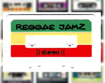 This Is A Patch! Reggae Rasta DJ Hip Hop Rock Clear Mixtape done in PVC/Rubber/Silicon Patch & Sewing Channel 10cm Mix Tape Applique