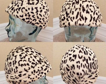 RARE Vintage 60's GIVENCHY Leopard Print Pony Fur Hat