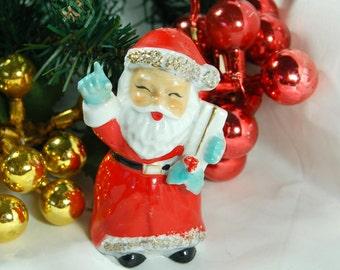 Vintage Santa Salt Pepper Shaker, Replacement Santa Salt Shaker, Japan Christmas Santa, Vintage Christmas, Santa Ornament, Santa Potpourri