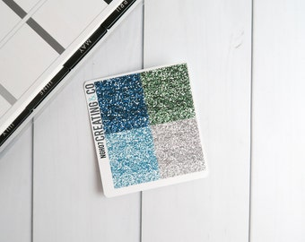 Faux Glitter Header Planner Stickers for a Variety of Planners to match Neverland - NGH07