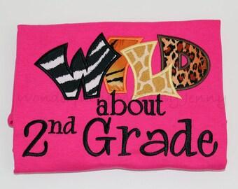 Wild about 2nd Grade Teachers Shirt