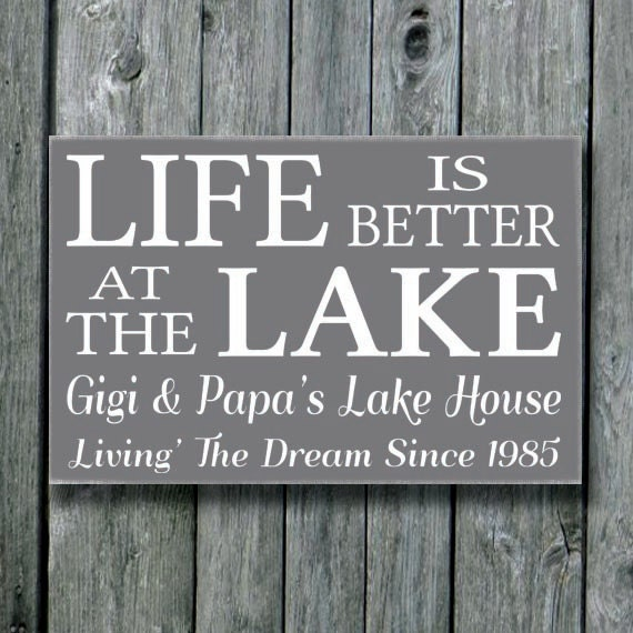 Items Similar To Lake Sign,Personalized Lakes House Decor
