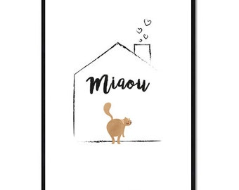 Digital Poster - The House - Cat - Download