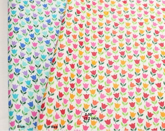 Laminated Cotton Fabric Tulip in 2 Colors By The Yard