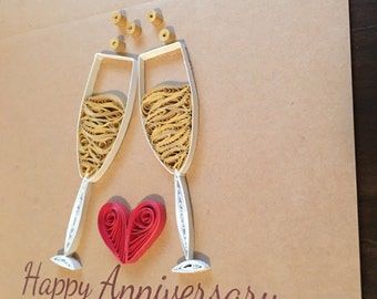 Happy Anniversary Quilled Card
