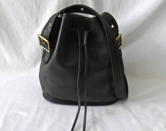 Vintage Black Leather Coach Classic Lula's Legacy Bag