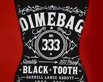 DIMEBAG DARRELL diy halter tank top  girly  metal reconstructed  Whiskey Label shirt Pantera xs s m l xl