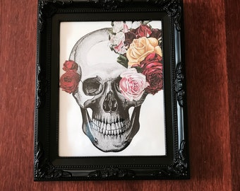 Skulls and Roses print