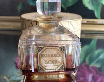 1920's French Bellodgia Caron Perfume Bottle, Boudoir, Art Deco