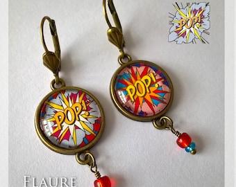 """Cabochon earrings """"Pop duo"""""""