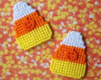Plastic Canvas: Candy Corn Magnets (set of 2)