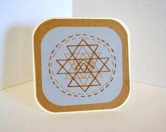 Geometric string art, Handmade card