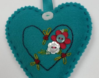 Love Heart filled with lavender