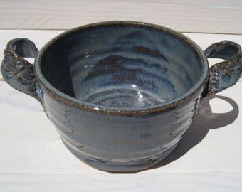 Ceramic Soup Crock, Soup Bowl, Ice Cream Bowl, Handled Bowl, Small Baking Dish