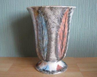 Vintage Vase with Leaf Decoration