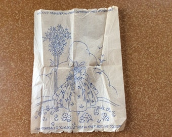 Vintage Weldon Embroidery Transfer