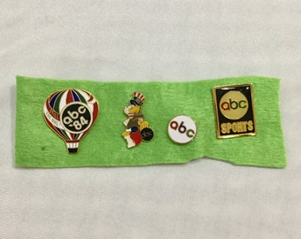 4 Los Angeles 1984 Olympic Pins ABC Television Sports