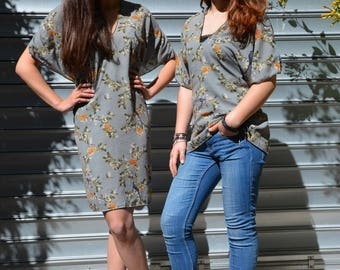 Kimono Japanese silk crepe blouse
