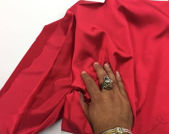 Red 58 inch 2 way stretch charmeuse satin-super soft silky satin-wedding-bridal-prom-nightgown-sold by the yard.