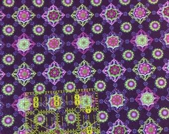Destash!  Purple fabric, medallion, geometric, purple cotton fabric, fabric sale, fabric destash, fabric clearance, fabric deals,