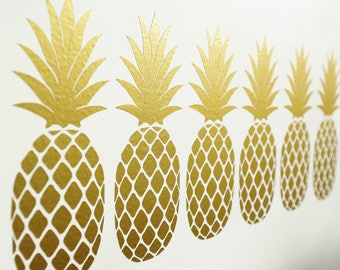 Gorgeous Pineapple Vinyl Wall Art Decals/Stickers - Various Colours & Sizes