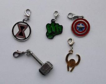 Marvel Avengers Hero Enamel Bracelet Charm