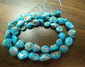 """Genuine Turquoise Nugget Beads - 16"""" Full Strand (2014060-18)"""