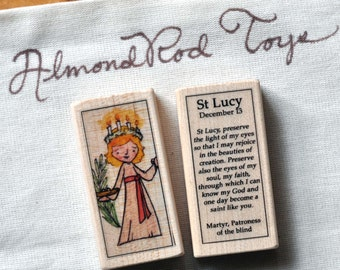 St Lucy Patron Saint Block