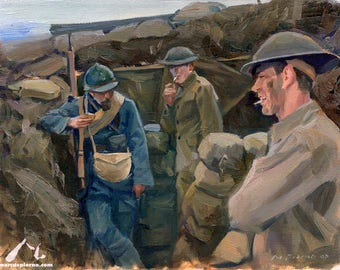 11x14 Allies WW1 Painting by Marcus Pierno
