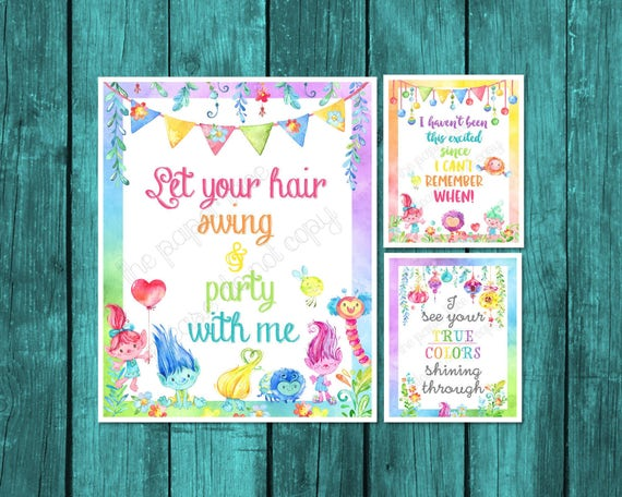 Trolls Quotes Set of 3