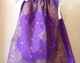 Bandana Dress - Girl's Western Dress - Size 4T - Summer Dress - Children's Clothing - Young Lady's Blouse - Bandanna Western Wear - Purple