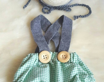 Ready to post. Boys set. Teddy bonnet. Newborn size. Photography prop.