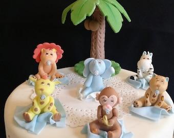 Jungle CakeToppers, Jungle Baby Shower, Safari Baby Shower, Safari Cake Topper, Jungle Party Decor, Baby Animal Cake Topper, Jungle Safari