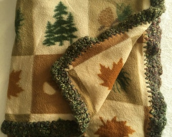 Cozy Cabin Fleece Blanket