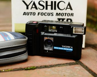 Vintage Yashica Auto Focus Motor IID - Compact Film Camera / Tested - Working Condition