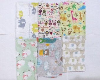 Kids Cotton Flannel Fabric Scraps/ Kids Cotton Flannel Fabric Remnants