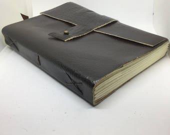 Rustic leather handmade journal