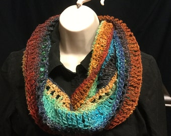 Beautiful Colors for any Season in this Cowl Made of Noro Yarn. Handmade
