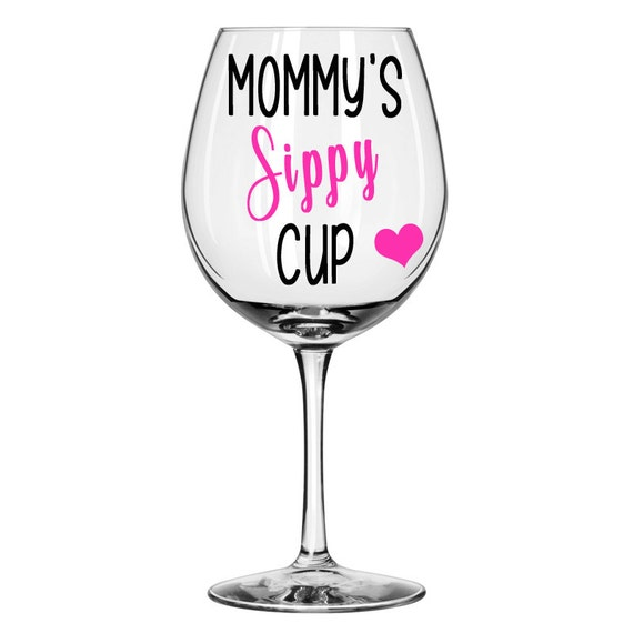 Mommys Sippy Cup Mom Wine Glass 20Oz Personalized Wine-3886
