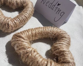 Twine rustic heart wedding favours/decor