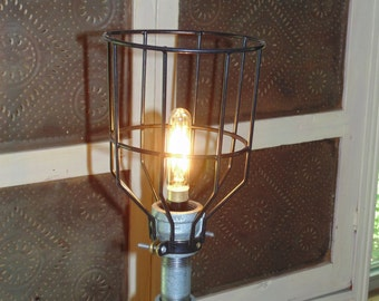 Steampunk Lamp  Galvanized Piping