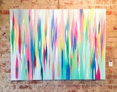 """Original abstract painting by Rita Ortloff 48""""x36""""x2"""" - """"Cupcake with Sprinkles"""""""