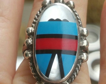 Sterling native American ring