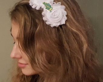 North Dakota State Bison Shabby Chic Flower Hair Bow Adult/Child Headband