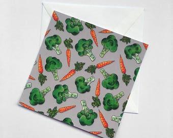 Broccoli Card (140x140mm)