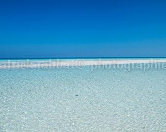 Caribbean Beach Photo Turquoise Waters Instant Digital Download Fine Art Photography Ocean White Sand Beach Romantic Warm Cuba