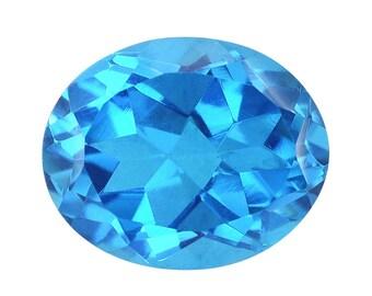 Caribbean Blue Quartz Triplet Loose Gemstone Oval Cut 1A Quality 11x9mm TGW 3.80 cts.