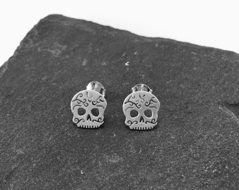 -Skull Mexican - silver EARRINGS