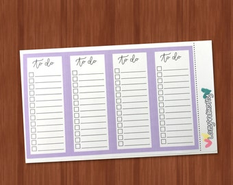 To-Do Double Full Box Checklist - Functional Stickers - Choice of Color - Planner Stickers for Erin Condren, Happy Planner
