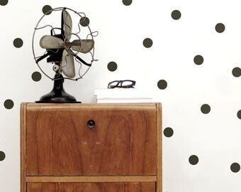 Large Black dots wall stickers, Dots wall stickers, Polka Dot Wall Decor